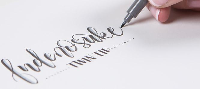 Tombow Fudenosuke brush lettering pen